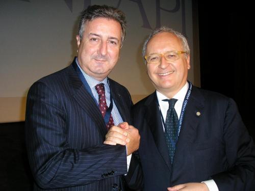 Vincenzo Elifani con Maurizio Casasco presidente Confapi